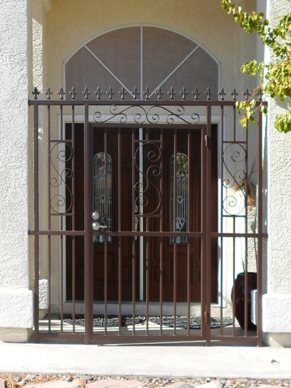 Traditional Courtyard & Entryway Gates CE0234 Wrought Iron Design In Las Vegas