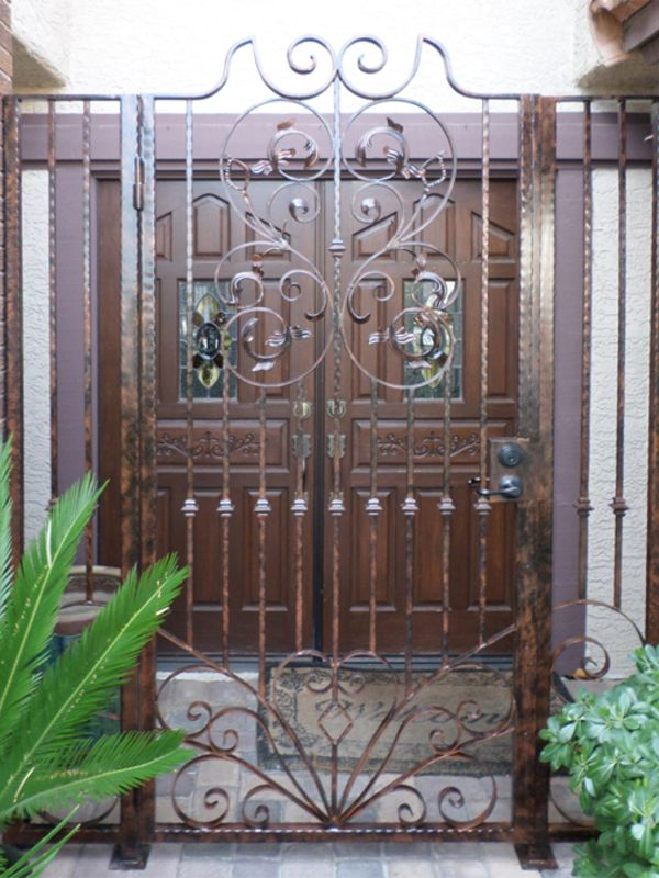 Traditional Courtyard & Entryway Gates CE0236 Wrought Iron Design In Las Vegas