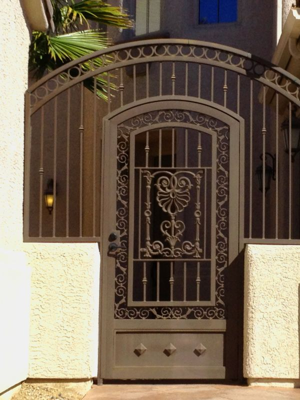 Traditional Courtyard & Entryway Gates CE0242 Wrought Iron Design In Las Vegas