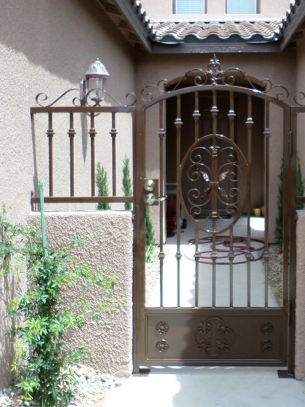 Traditional Courtyard & Entryway Gates CE0252A Wrought Iron Design In Las Vegas