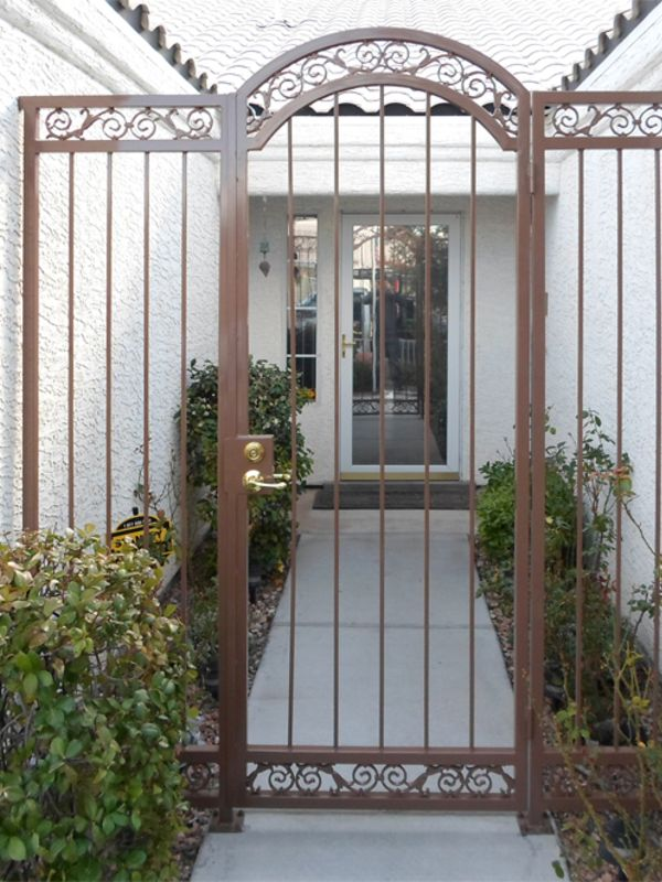 Traditional Courtyard & Entryway Gates CE0254A Wrought Iron Design In Las Vegas