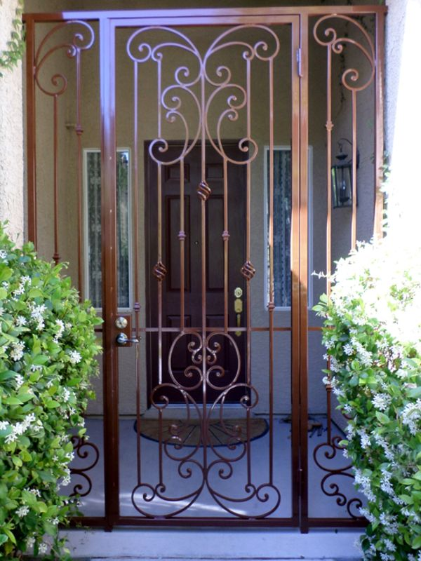Traditional Courtyard & Entryway Gates CE0262 Wrought Iron Design In Las Vegas