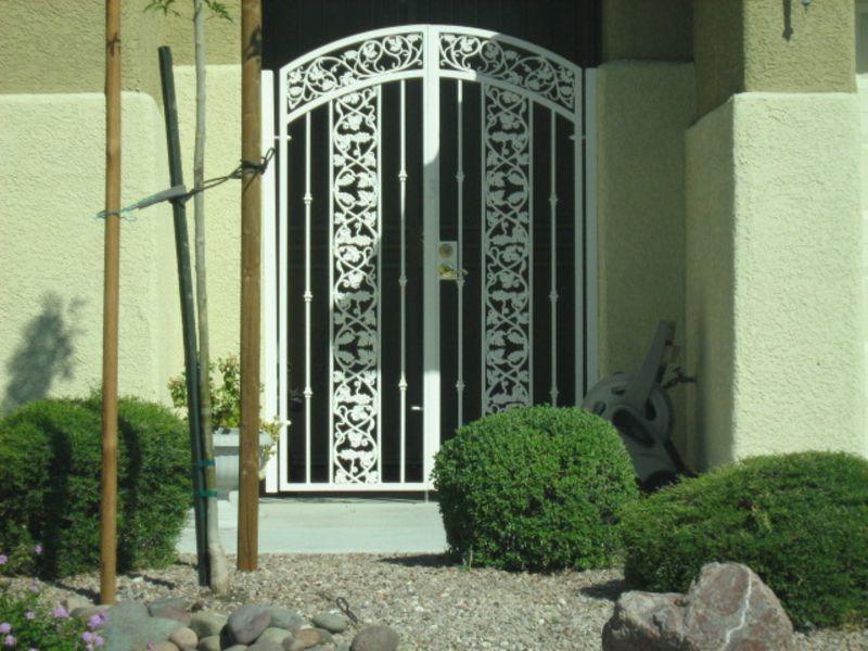 Traditional Courtyard & Entryway Gates CE0272 Wrought Iron Design In Las Vegas