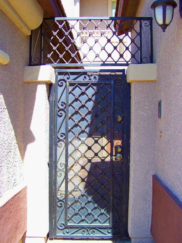 Traditional Courtyard & Entryway Gates CE0283 Wrought Iron Design In Las Vegas