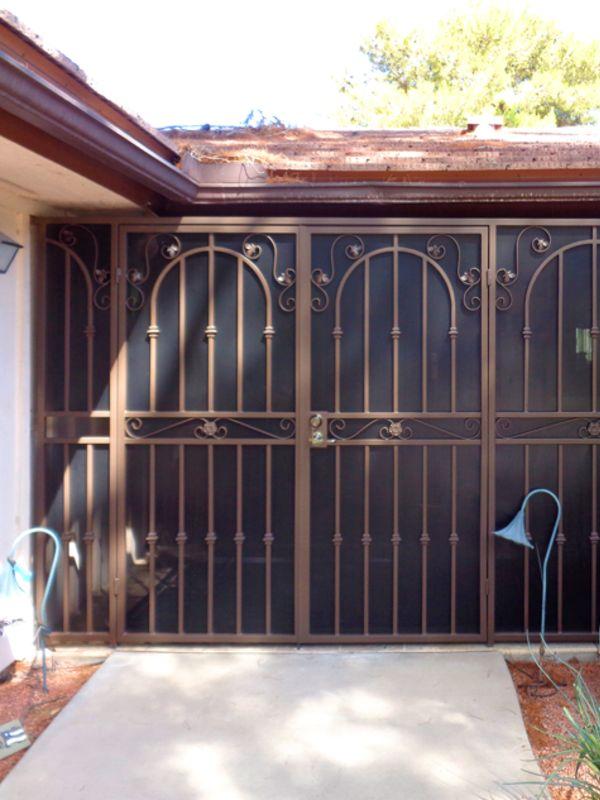 Traditional Courtyard & Entryway Gates CE0322 Wrought Iron Design In Las Vegas