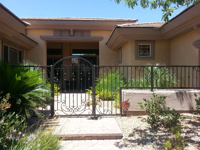 Traditional Courtyard & Entryway Gates CE0324 Wrought Iron Design In Las Vegas