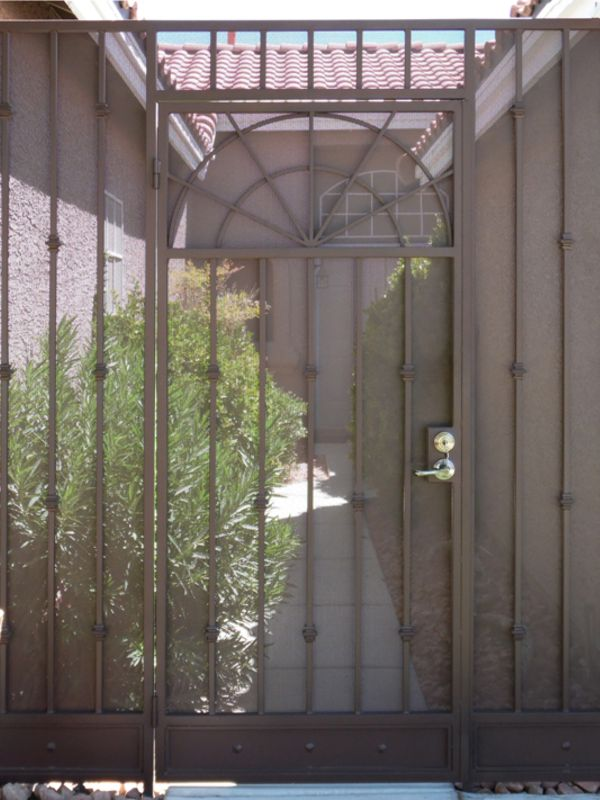 Traditional Courtyard & Entryway Gates CE0336 Wrought Iron Design In Las Vegas