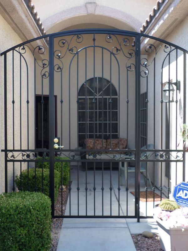 Traditional Courtyard & Entryway Gates CE0347 Wrought Iron Design In Las Vegas