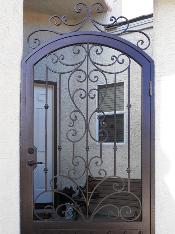 Traditional Courtyard & Entryway Gates CE0358 Wrought Iron Design In Las Vegas