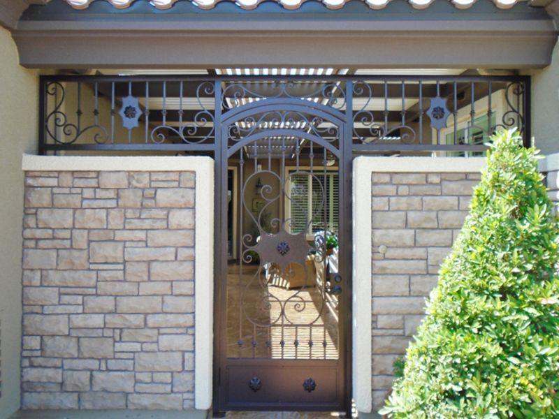 Traditional Courtyard & Entryway Gates CE0366 Wrought Iron Design In Las Vegas