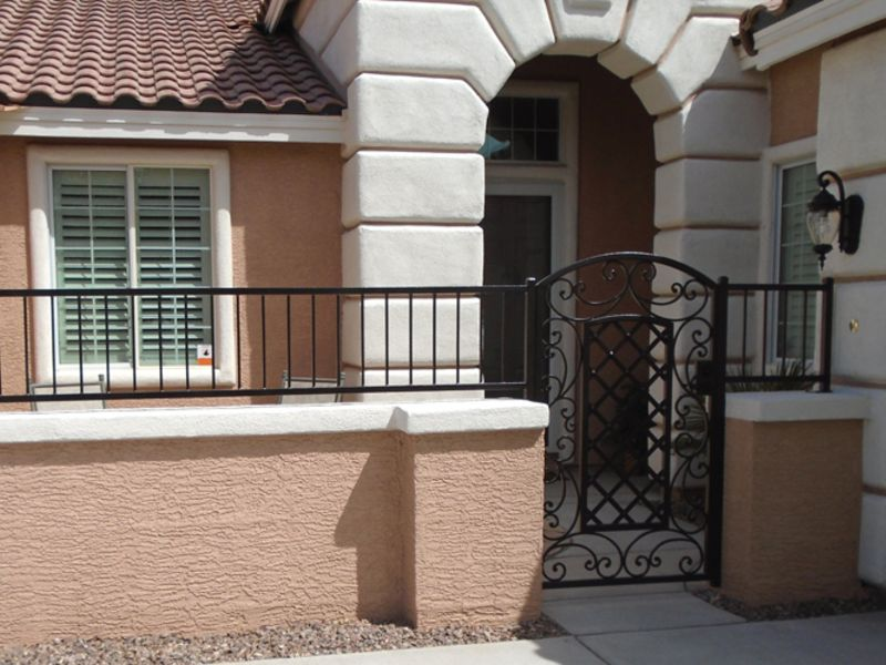 Traditional Courtyard & Entryway Gates CE0367 Wrought Iron Design In Las Vegas
