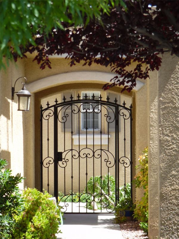 Traditional Courtyard & Entryway Gates CE0369 Wrought Iron Design In Las Vegas