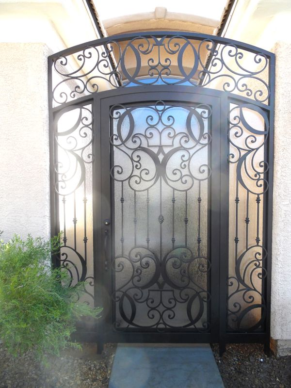 Traditional Courtyard & Entryway Gates CE0376 Wrought Iron Design In Las Vegas