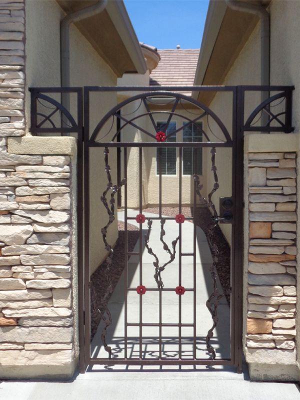 Traditional Courtyard & Entryway Gates CE0399 Wrought Iron Design In Las Vegas