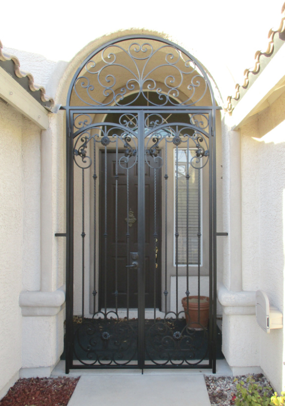 Traditional Cappella Entryway Door - Item EW0495 Wrought Iron Design In Las Vegas