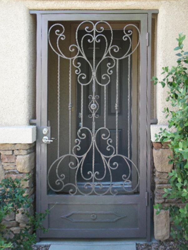 Traditional Coco Entryway Door - Item EW0178 Wrought Iron Design In Las Vegas