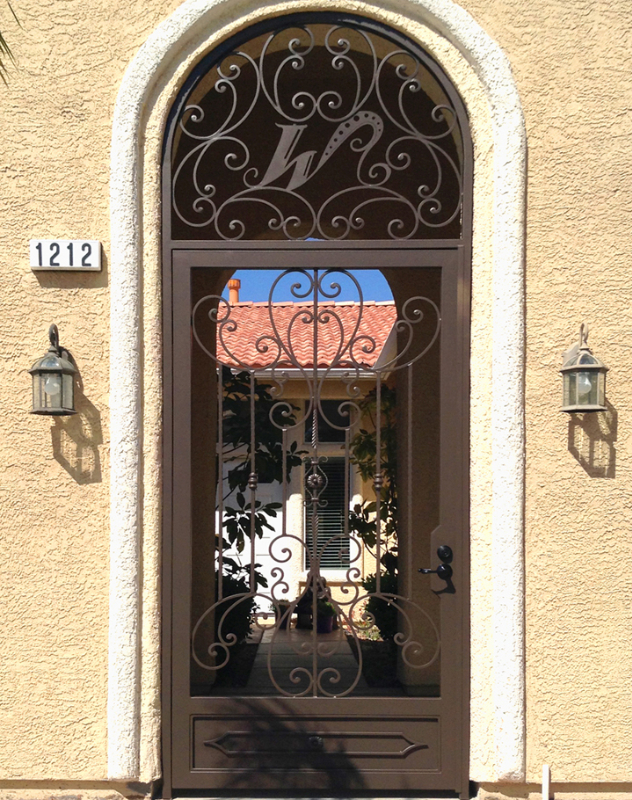 Traditional Coco Entryway Door - Item EW0353 Wrought Iron Design In Las Vegas