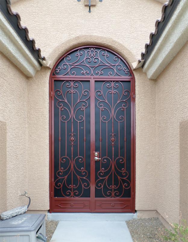 Traditional Coco Entryway Door - Item EW0413 Wrought Iron Design In Las Vegas