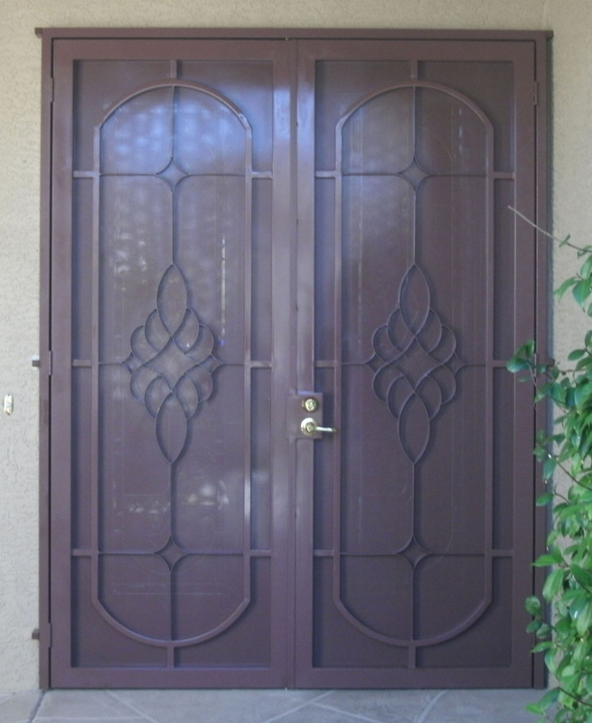 Traditional Custom Archive Double Security Door - Item FD0044 Wrought Iron Design In Las Vegas