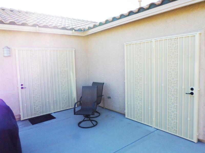 Traditional Custom Archive Double Security Door - Item FD0074 Wrought Iron Design In Las Vegas