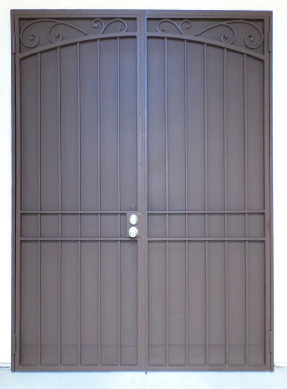 Traditional Custom Archive Double Security Door - Item FD0095 Wrought Iron Design In Las Vegas