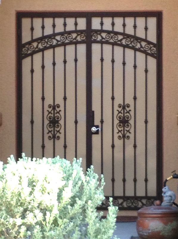 Traditional Custom Archive Double Security Door - Item FD0098 Wrought Iron Design In Las Vegas