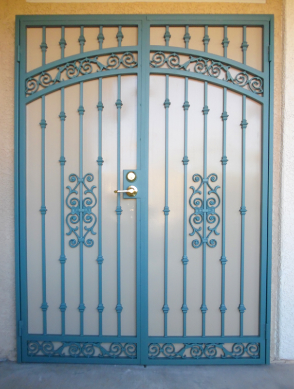 Traditional Custom Archive Double Security Door - Item FD0098A Wrought Iron Design In Las Vegas