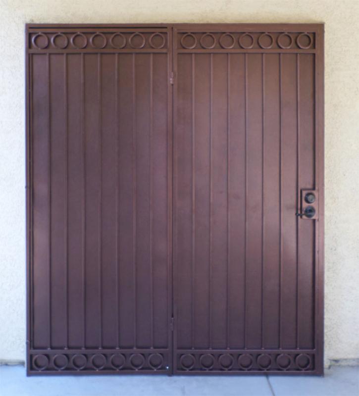 Traditional Custom Archive Double Security Door - Item FD0111 Wrought Iron Design In Las Vegas