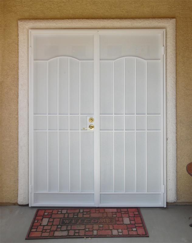 Traditional Custom Archive Double Security Door - Item FD0129 Wrought Iron Design In Las Vegas