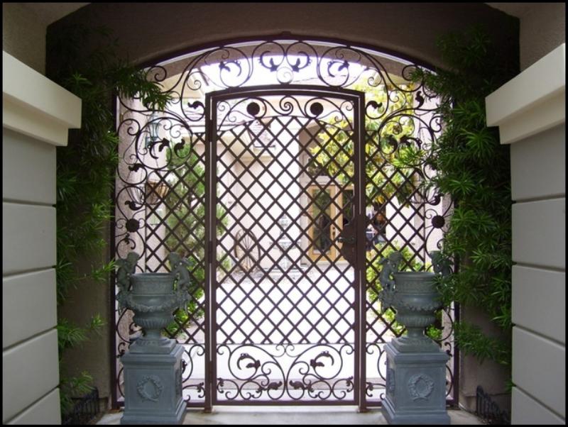 Traditional Custom Archive Entryway Door - Item EW0003 Wrought Iron Design In Las Vegas