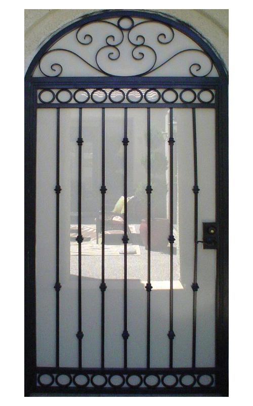 Traditional Custom Archive Entryway Door - Item EW0020 Wrought Iron Design In Las Vegas