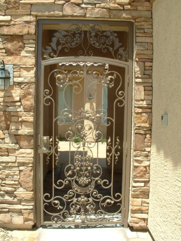 Traditional Custom Archive Entryway Door - Item EW0028 Wrought Iron Design In Las Vegas