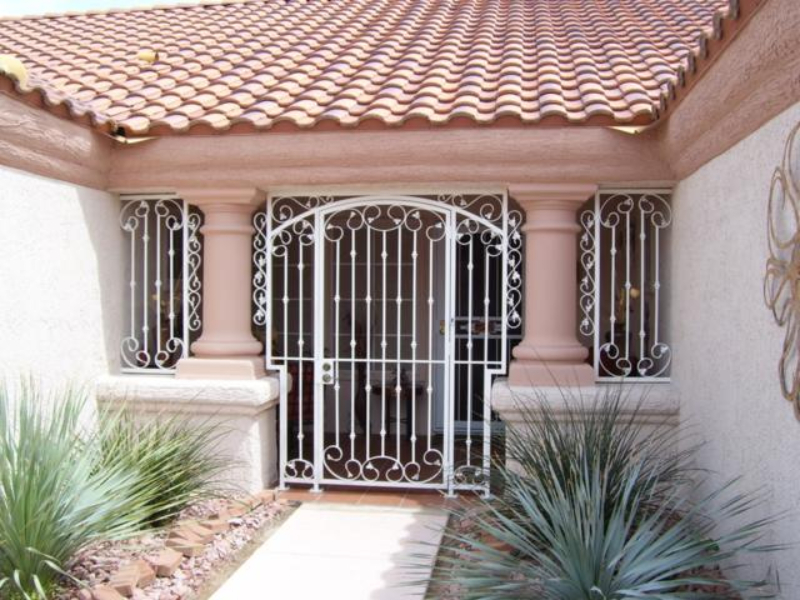 Traditional Custom Archive Entryway Door - Item EW0160 Wrought Iron Design In Las Vegas