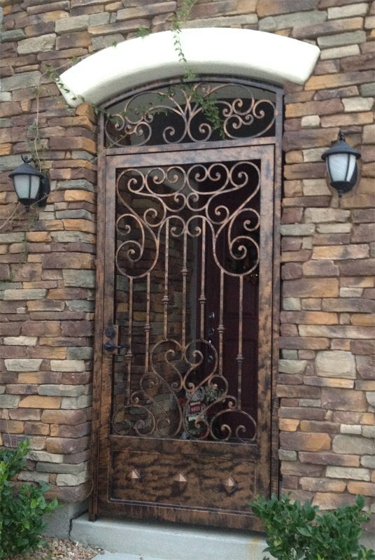 Traditional Custom Archive Entryway Door - Item EW0284 Wrought Iron Design In Las Vegas