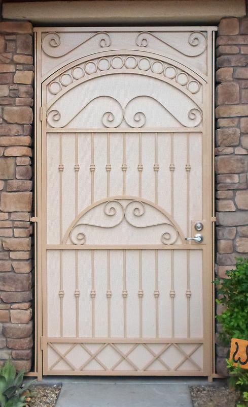 Traditional Custom Archive Entryway Door - Item EW0315 Wrought Iron Design In Las Vegas