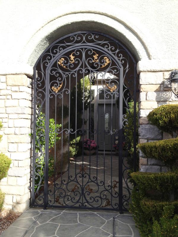Traditional Custom Archive Entryway Door - Item EW0323 Wrought Iron Design In Las Vegas
