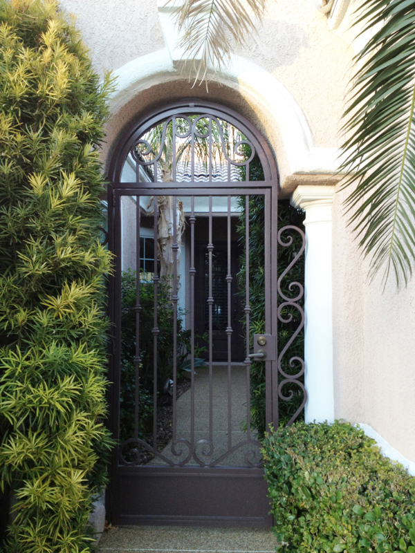 Traditional Custom Archive Entryway Door - Item EW0324 Wrought Iron Design In Las Vegas