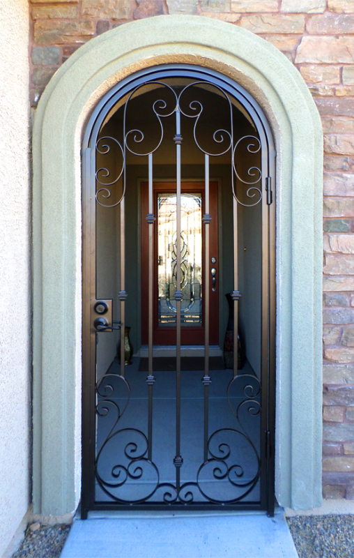 Traditional Custom Archive Entryway Door - Item EW0372 Wrought Iron Design In Las Vegas