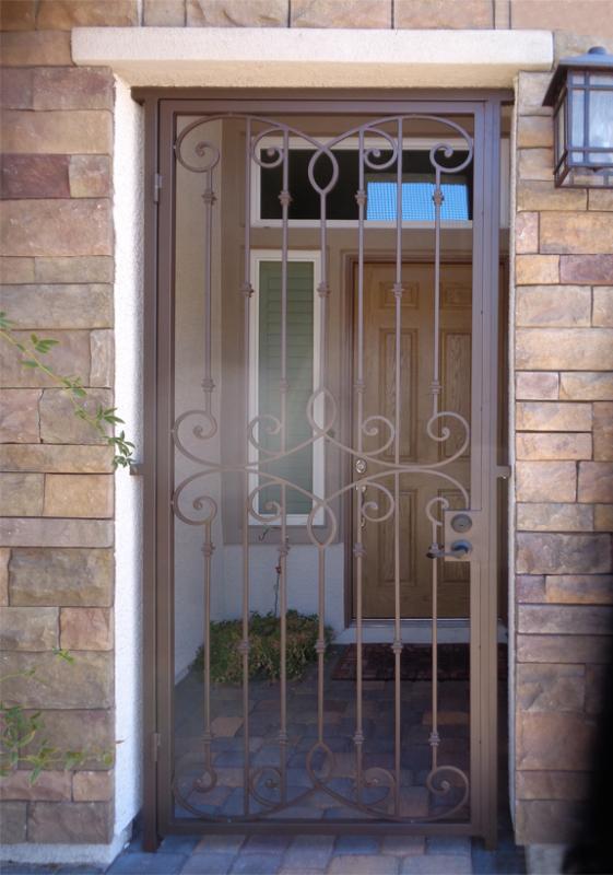 Traditional Custom Archive Entryway Door - Item EW0420A Wrought Iron Design In Las Vegas