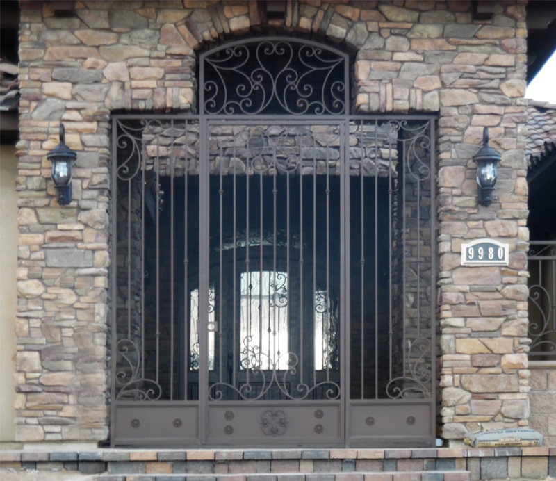 Traditional Custom Archive Entryway Door - Item EW0443 Wrought Iron Design In Las Vegas