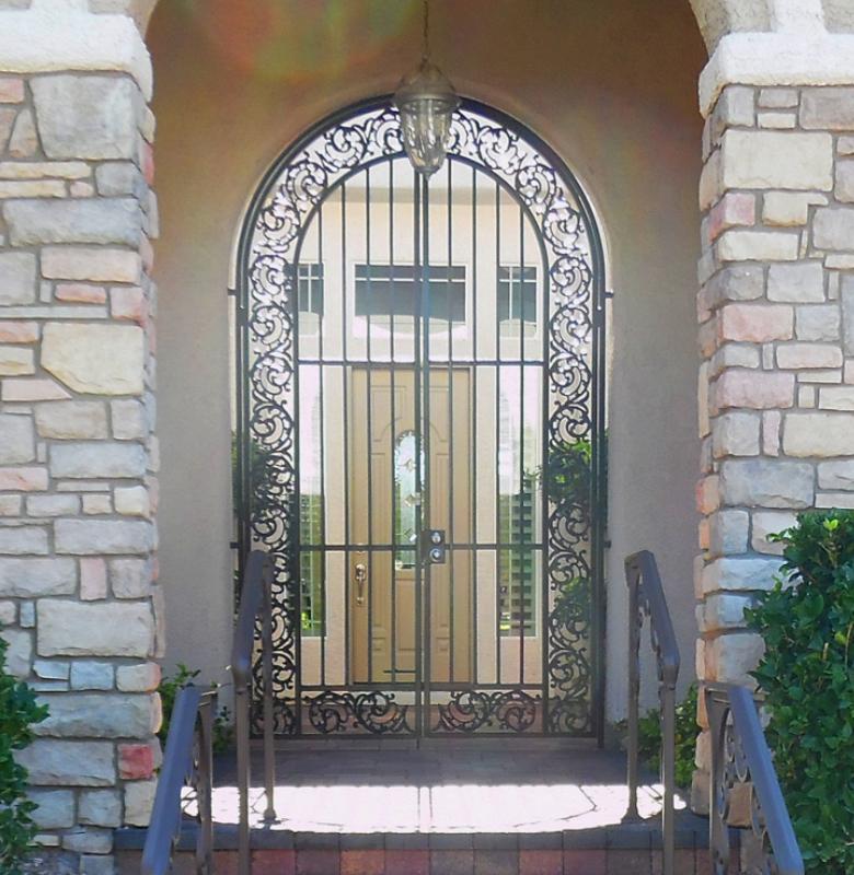 Traditional Custom Archive Entryway Door - Item EW0449 Wrought Iron Design In Las Vegas