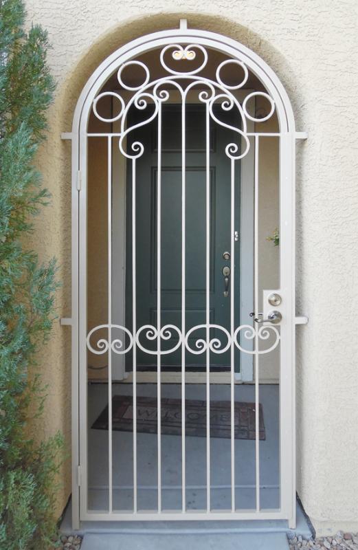 Traditional Custom Archive Entryway Door - Item EW0457 Wrought Iron Design In Las Vegas