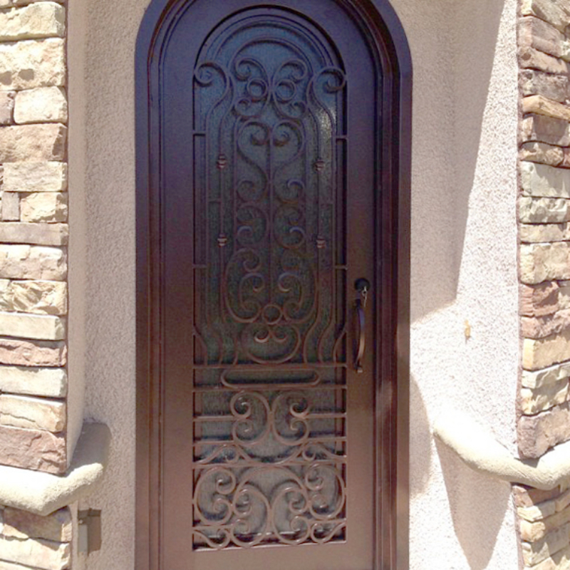 Traditional Custom Archive Front Door - Item GE0008A Wrought Iron Design In Las Vegas