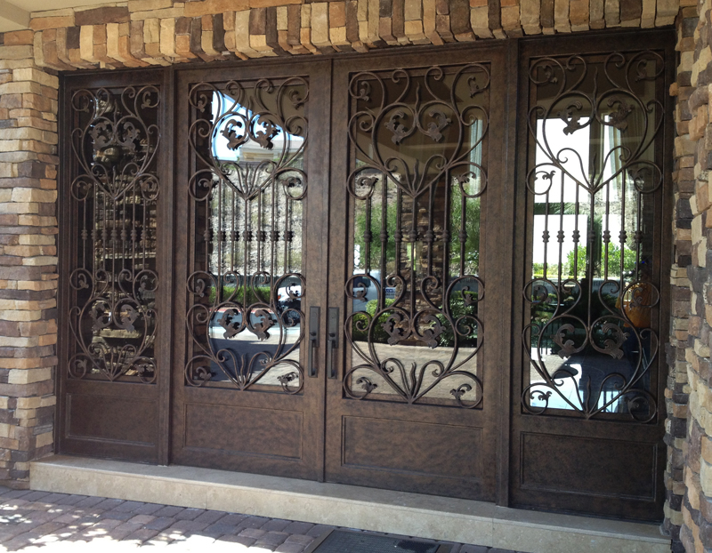 Traditional Custom Archive Front Door - Item GE0102 Wrought Iron Design In Las Vegas