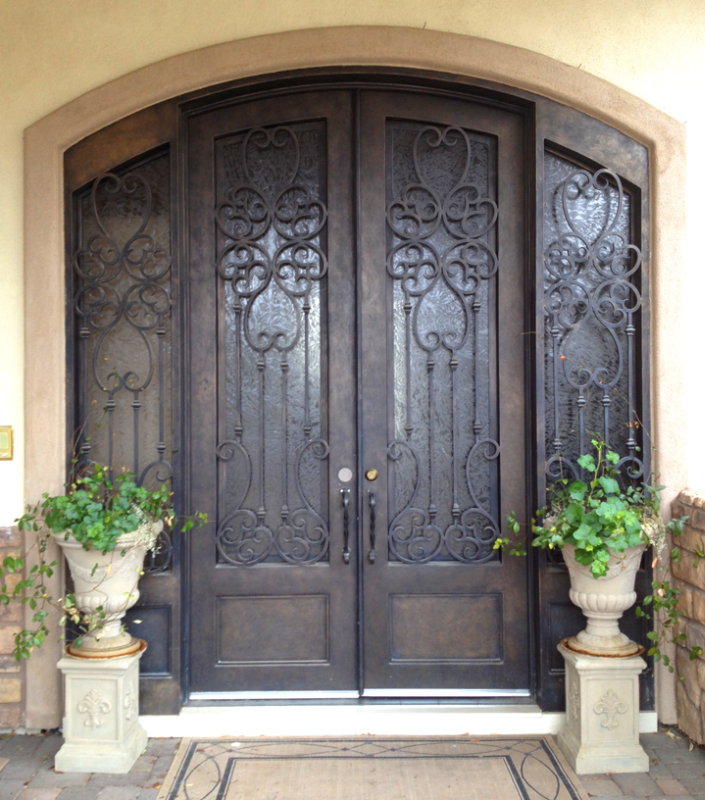 Traditional Custom Archive Front Door - Item GE0144 Wrought Iron Design In Las Vegas