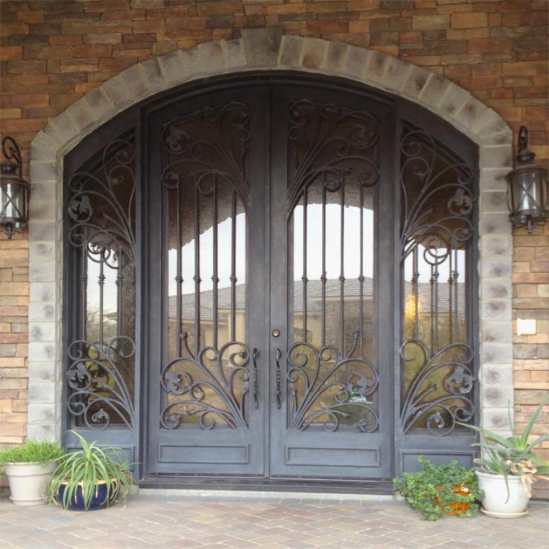 Traditional Custom Archive Front Door - Item GE0145 Wrought Iron Design In Las Vegas
