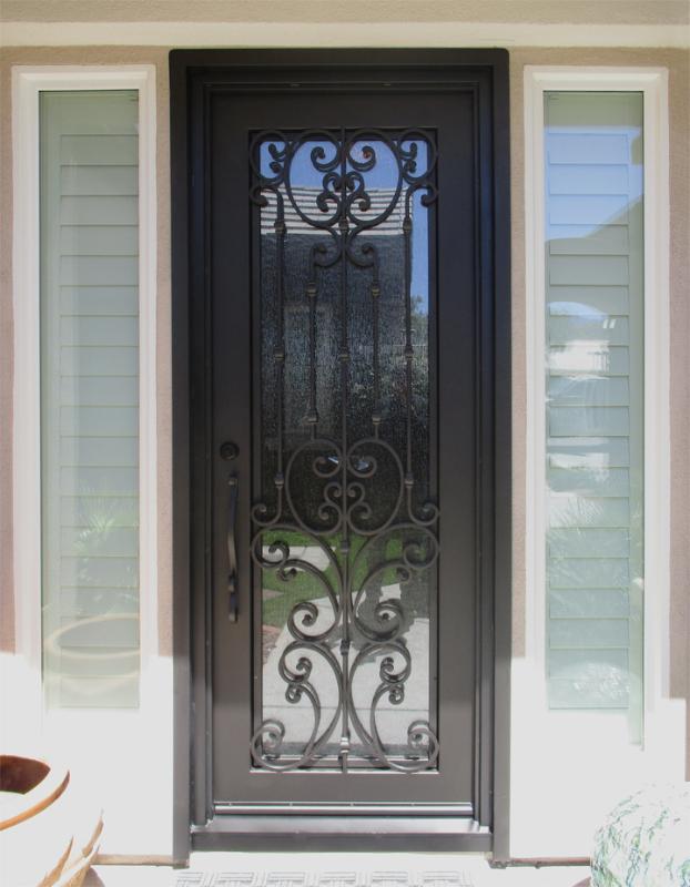 Traditional Custom Archive Front Door - Item GE0211 Wrought Iron Design In Las Vegas