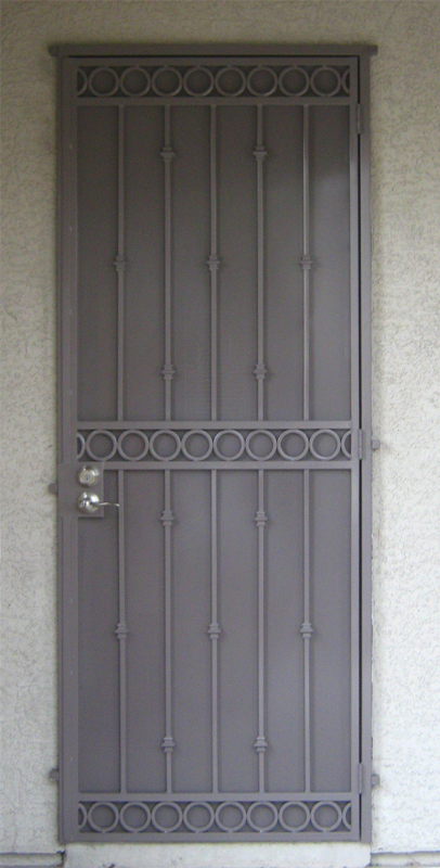 Traditional Custom Archive Security Door - Item SD0056 Wrought Iron Design In Las Vegas