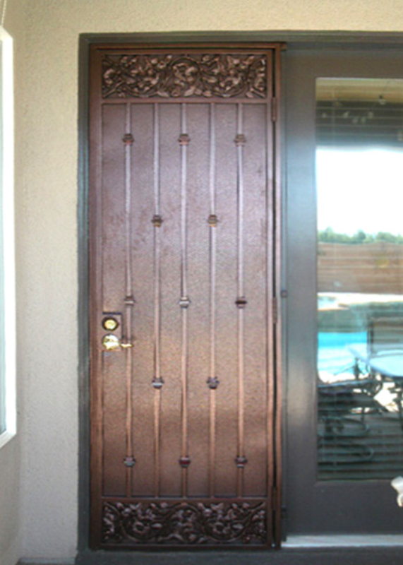 Traditional Custom Archive Security Door - Item SD0093 Wrought Iron Design In Las Vegas