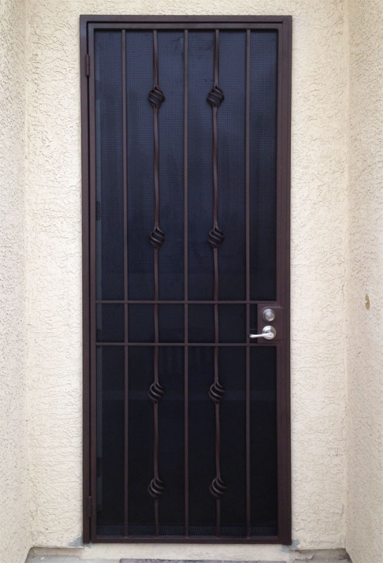 Traditional Custom Archive Security Door - Item SD0165 Wrought Iron Design In Las Vegas